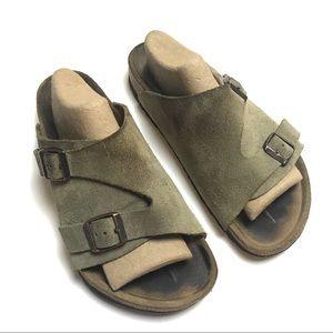 Birkenstock suede slip-on sandals